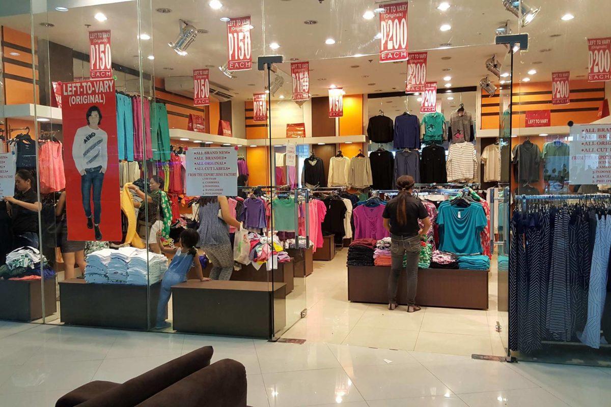 Best Branded Garments Overruns in Cebu - Left to Vary